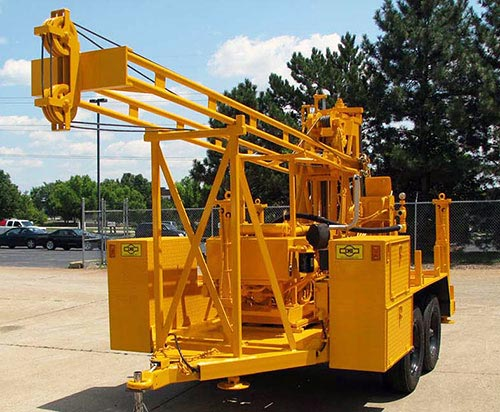 CME-45B Trailer Mounted Auger Drilling Rig