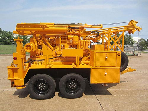 CME-45C Trailer Mounted Auger Drill Rig