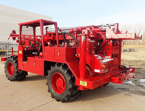CME-550X Rubber Tire ATV Mounted Auger Drill Rig