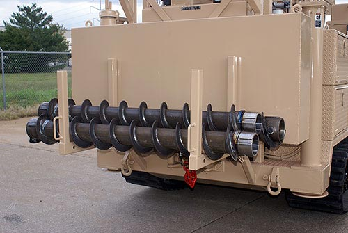 CME-55LC/300 Track Mounted Drill Auger Storage