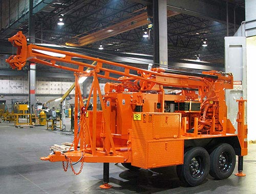 CME-55 Trailer Mounted Auger Drilling Rig