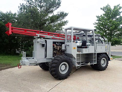 CME-750X Rubber Tire ATV Mounted Auger Drilling Rig