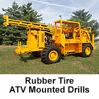 Rubber Tire ATV Mounted Drills