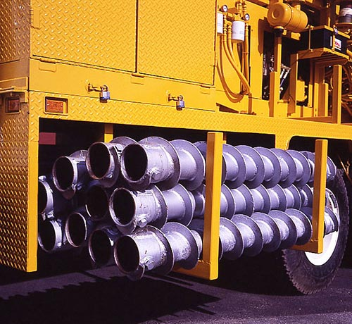 CME-75 Truck Mounted Drill Auger Storage