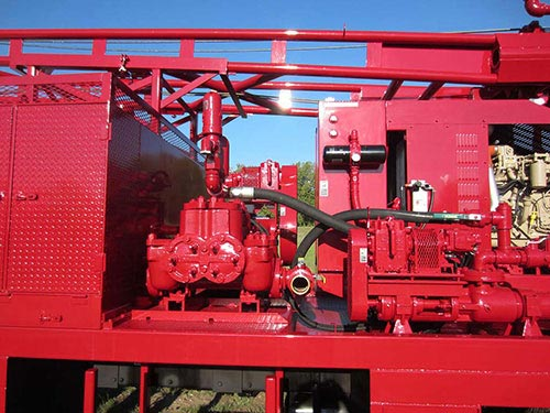 CME-95 Truck Mounted Drill Rig Mud Pump