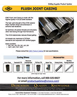 Flush Joint Casing Product Update