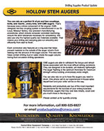 Hollow Stem Augers Product Update
